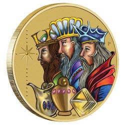 Christmas 2016 Stamp & Coin Cover Rois Mages