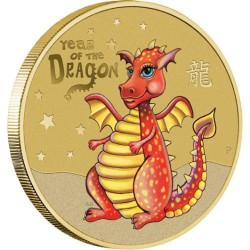 Baby Dragon 2012 $1 Coin in Card