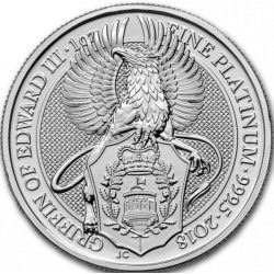 1 oz PLATINIUM PLATINUM QUEEN'S BEAST £100 GRIFFIN