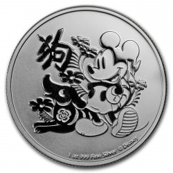 1 oz silver Niue Disney Year of the Dog 2018