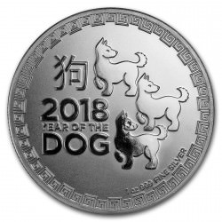 1 oz silver DOG NIUE 2018