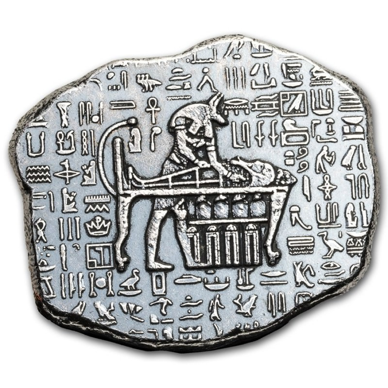 1 Troy Oz Silver Egyptian Relic Anubis Goldsilver Be