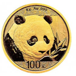Goud CHINA PANDA 8 GR 2018 gold