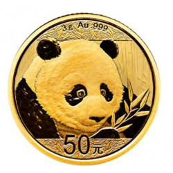 Goud CHINA PANDA 3 GR 2018 gold
