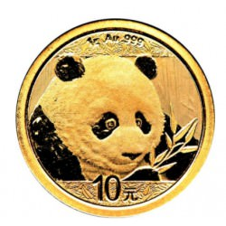 Goud CHINA PANDA 1 GR 2018 gold