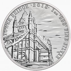 1 oz silver TOWER BRIDGE 2018 - Landmarks of Britain