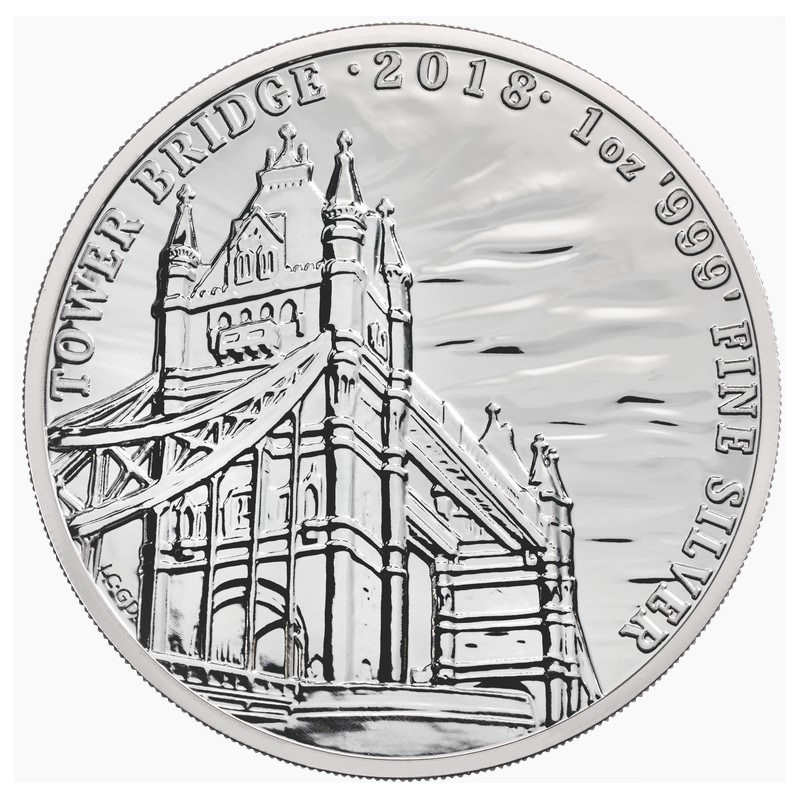 1 Oz Silver Tower Bridge 2018 Landmarks Of Britain