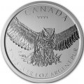 1 oz silver GREAT HORNED OWL 2015