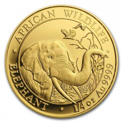 GOLD 1/4 oz ELEPHANT 2018 SOMALIA