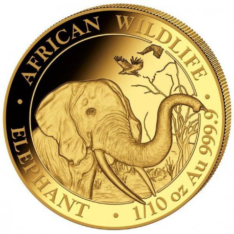 GOLD 1/10 oz ELEPHANT 2018 SOMALIA