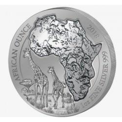 1 oz SILVER RWANDA GIRAFFE 2018