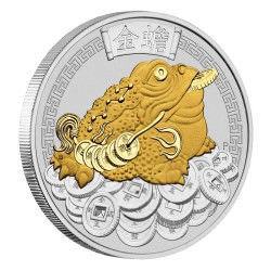 Money Toad 2018 1oz Silver Gilded Coin - Pad