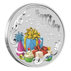 Happy Birthday 2018 1oz Silver Coin