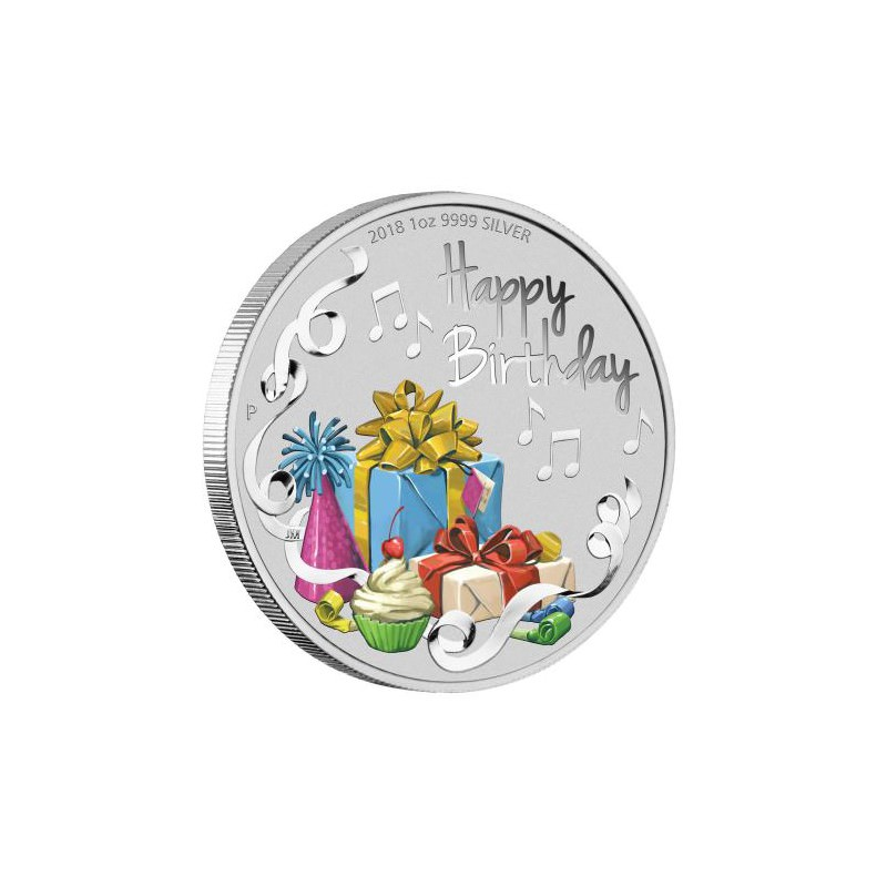 Happy Birthday 2018 1oz Silver Coin Goldsilver Be