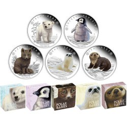 Polar Babies : COMPLETE SERIES 5 COINS