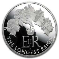 1 kilo Silver Longest Reigning Monarch Proof Coin 2015