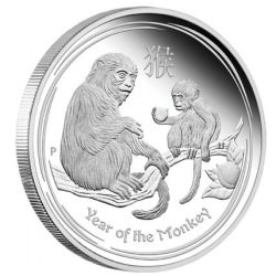 $30 Australian Lunar Series - Year of the Monkey 2016 - 1 Kilo Silver Proof Coin