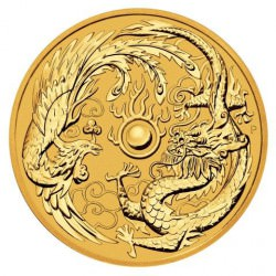1 oz gold DRAGON & PHOENIX 2018