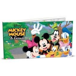 Mickey Mouse & Friends 5g Silver Coin Note $0.20 DISNEY