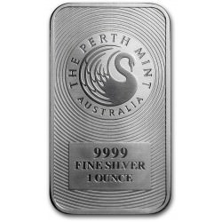 1 oz silver PERTH MINT bar SWAN LINGOT