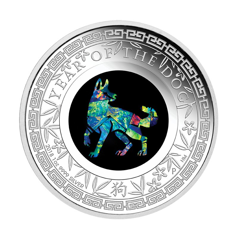 Australian Opal Lunar Series 2018 Year Of The Dog 1oz
