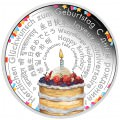 Birthday Wishes 2018 2oz Silver Proof Coin