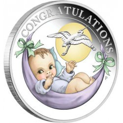 Newborn Baby 2017 1/2oz Silver Proof Coin in Card Birth