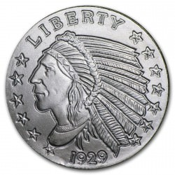 1/4 oz silver INCUSE INDIAN