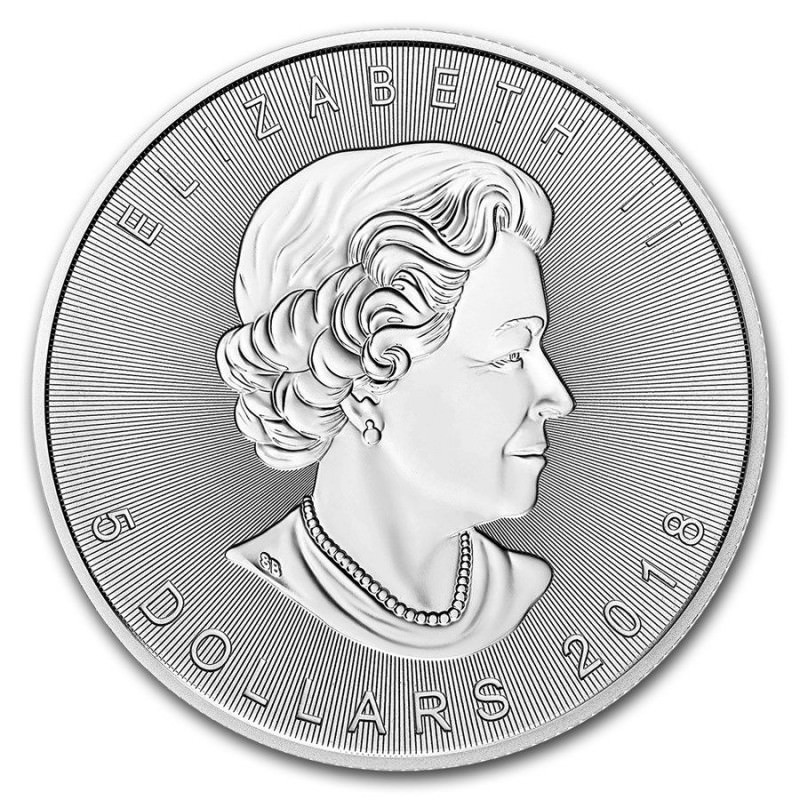 1 Oz Silver Incuse Maple Leaf 2018 Goldsilver Be