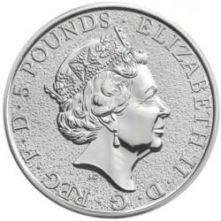 2 oz silver QUEENS BEAST 2016
