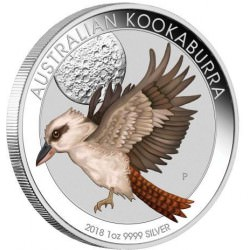 World Money Fair Australian Kookaburra 2018 1oz Silver Coin WMF