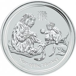 1/2 oz SILVER LUNAR MONKEY 2016