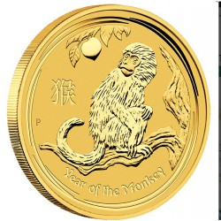 1 oz GOLD LUNAR MONKEY 2016