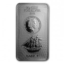 1 oz silver Bar Cook Islands