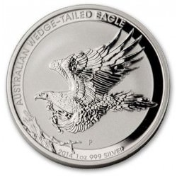 1 oz silver WEDGE TAILED EAGLE 2014 gem