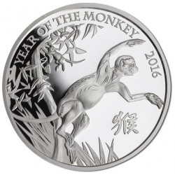 1 oz ZILVER UK LUNAR MONKEY 2016