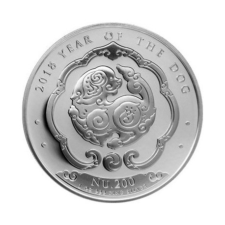 1 oz silver KINGDOM OF BHUTAN 2017 Rooster