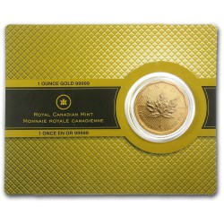 1 oz gold Maple Leaf 2009 Essay card