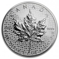1 oz silver MAPLE LEAF 2018 reverse proof 30th anniversary