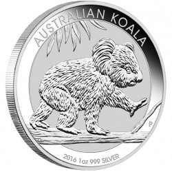 Perth Mint 1 oz silver KOALA 2016 $1