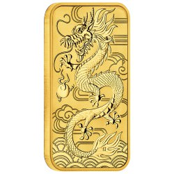 Perth Mint 1 oz RECTANGLE DRAGON BAR 2018 GOLD