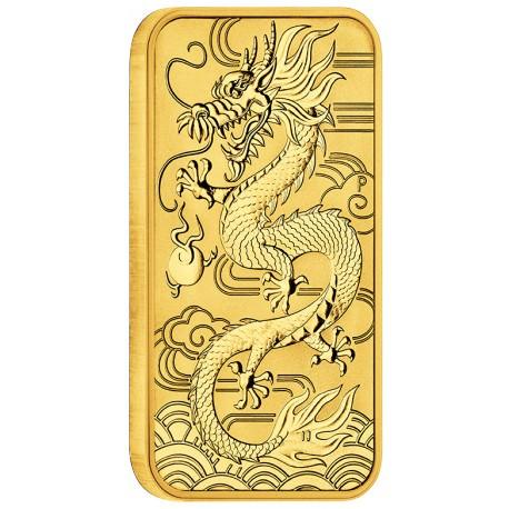 Perth Mint 1 oz RECTANGLE DRAGON BAR 2018 GOLD