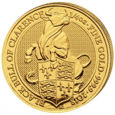 1/4 oz gold QUEEN'S BEAST 2018 BULL OF CLARENCE £25 Pre-sale