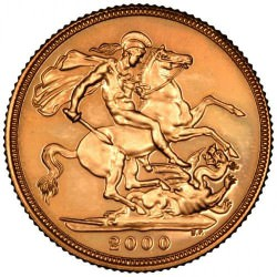 FULL GOLD SOVEREIGN 2000