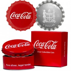 Perth Mint Coca Cola Bottle Cap 2018 6 gram Silver Proof Coin $1