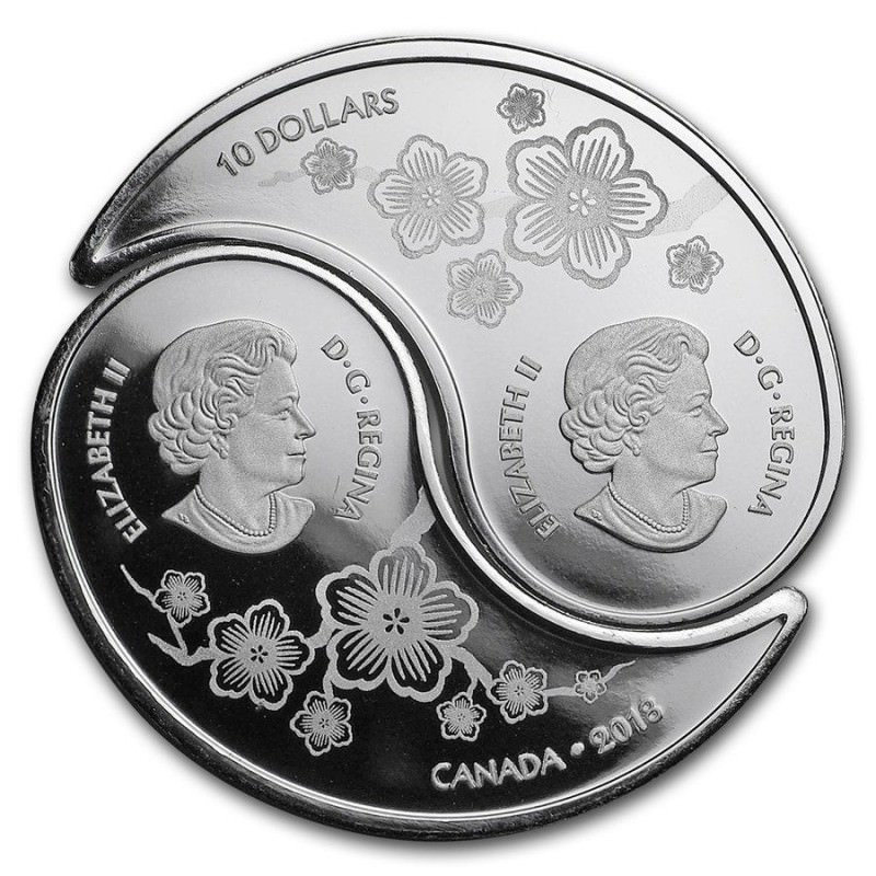 Canada 1 2 Oz Silver 10 Tiger And Dragon 2018 Yin And