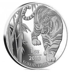 MEDAILLE / JETON 1 oz silver KOREAN TIGER 2018