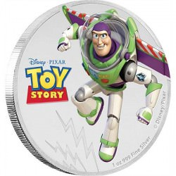 Disney•Pixar Toy Story - Buzz Lightyear 1oz Silver Coin $2 NZD