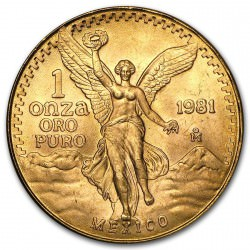1 oz gold LIBERTAD 1981
