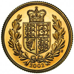 FULL GOLD SOVEREIGN 2002